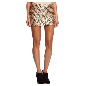 Glamorous UK gold sequin mini skirt size S